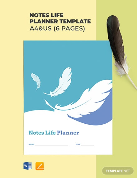 Notes Life Planner Template