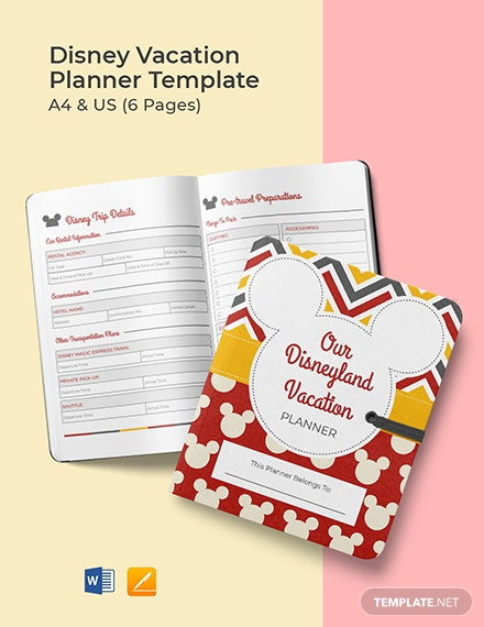 Disney Vacation Planner Template
