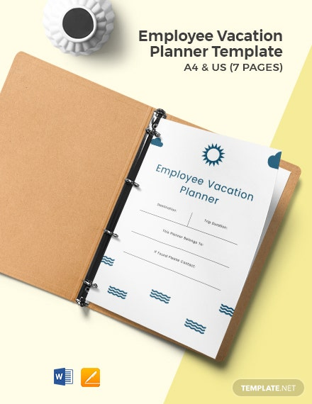 Employee Vacation Planner Template
