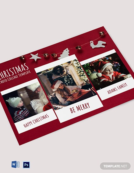 Free Christmas Photo Collage Template Photoshop Word
