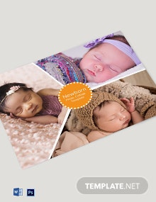 Newborn Photo Collage Template