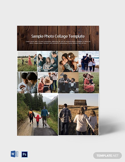 Free Sample Photo Collage Template