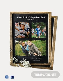 School Photo Collage Template