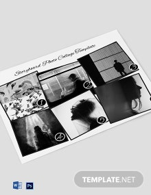 Storyboard Photo Collage Template