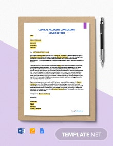 Free Clinical Account Consultant Cover Letter Template