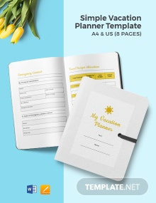 Free Simple Vacation Planner Template