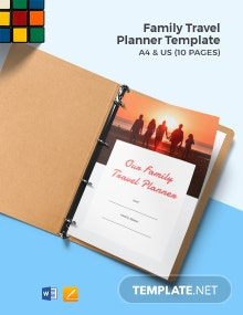 Family Travel Planner Template