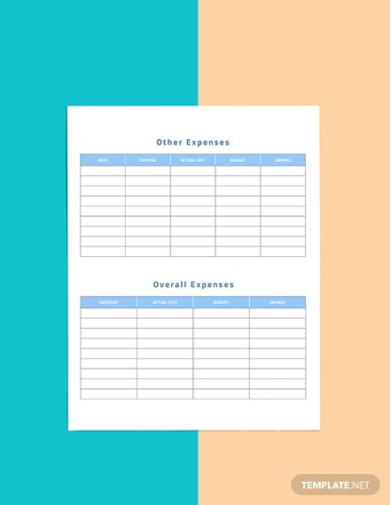 Business Travel Planner template Editable