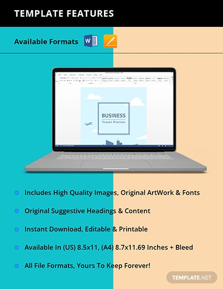 Business Travel Planner template Instruction