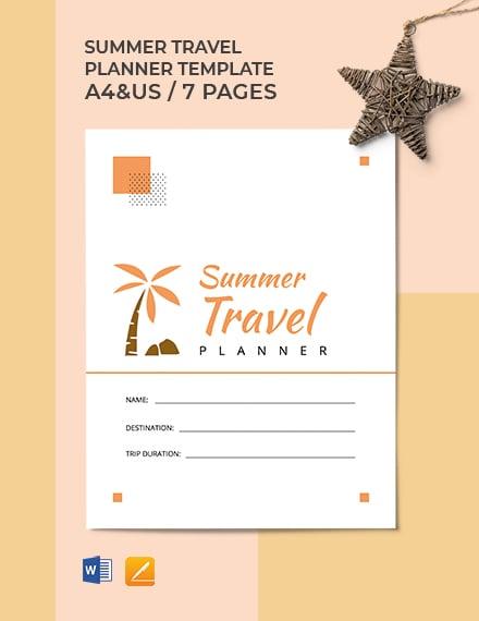 Summer Travel Planner Template