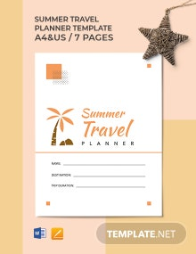Summer Travel Planner Template