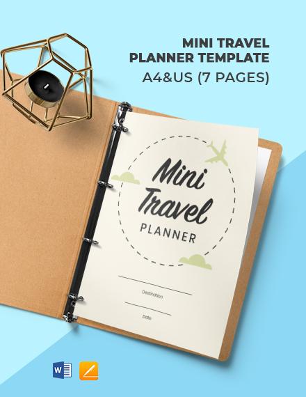 Mini Travel Planner Template