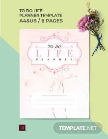 To Do Life Planner Template