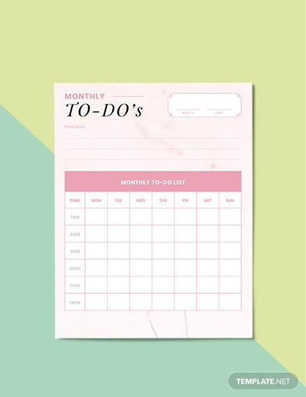 To Do Life Planner Example