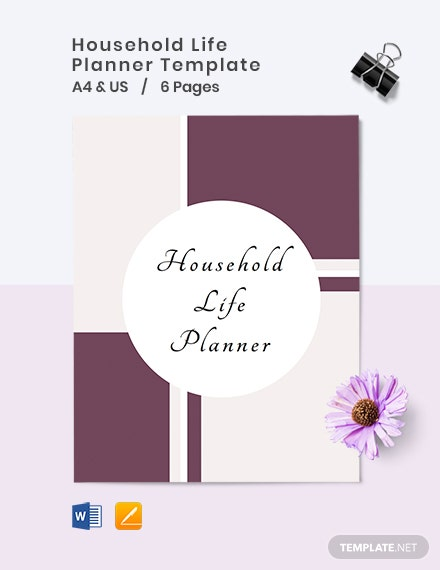 Household Life Planner Template