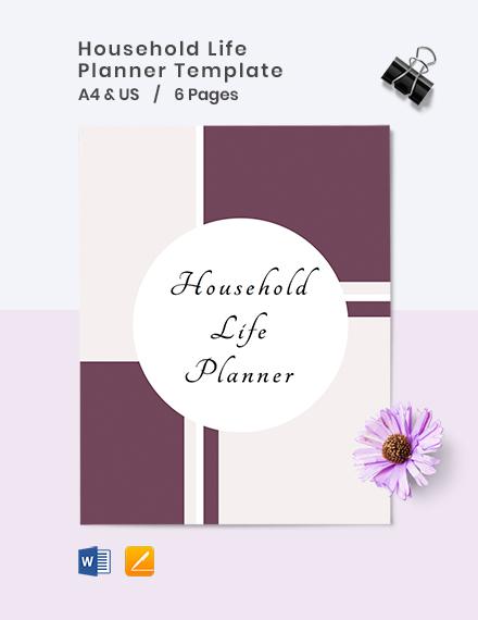 Household Life Planner Cover