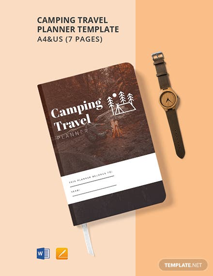 Camping Travel Planner Template