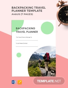Backpacking Travel Planner Template