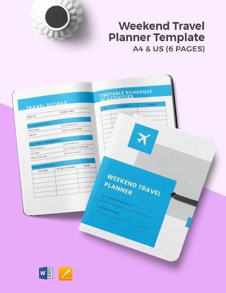Weekend Travel Planner Template