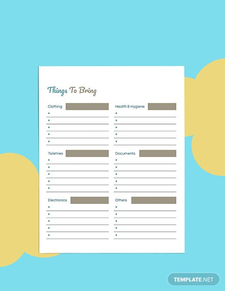 Daily Travel Planner template Download
