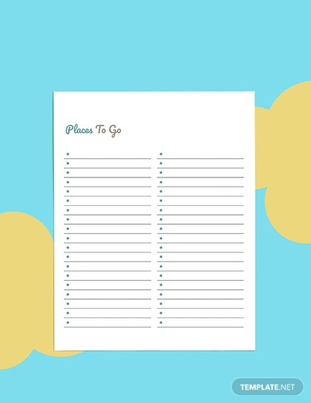 Daily Travel Planner template Sample