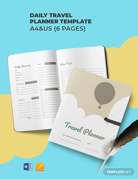 Daily Travel Planner Template