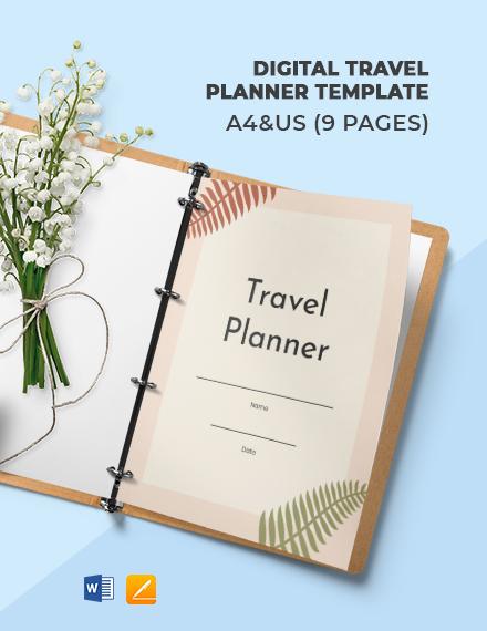 Digital Travel Planner Template