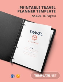 Free Printable Travel Planner Template
