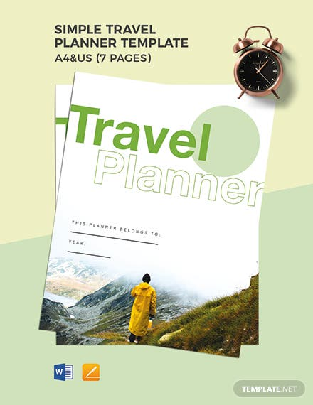 Free Simple Travel Planner Template