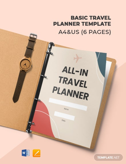 Free Basic Travel Planner Template
