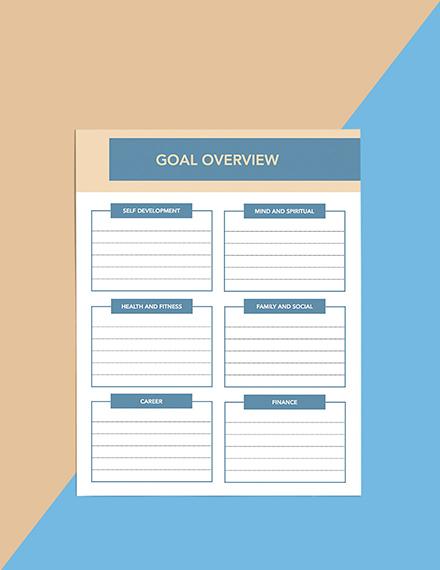 Goals Life Planner Editable