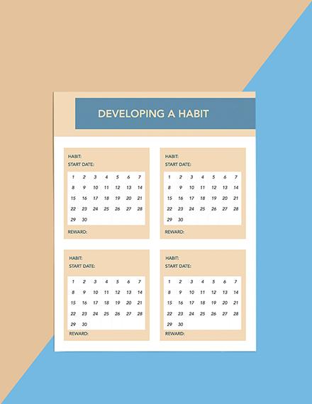 Goals Life Planner Format