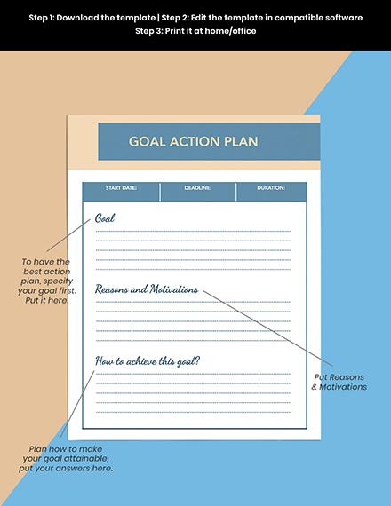 Goals Life Planner Sample