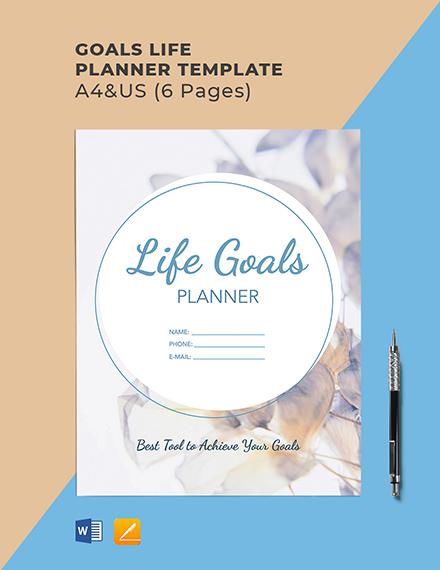 Goals Life Planner Template