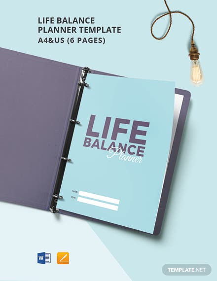 Life Balance Planner Template
