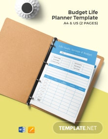 Budget Life Planner Template