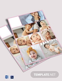 Baby Photo Collage Template