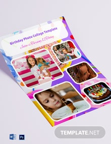 Birthday Photo Collage Template