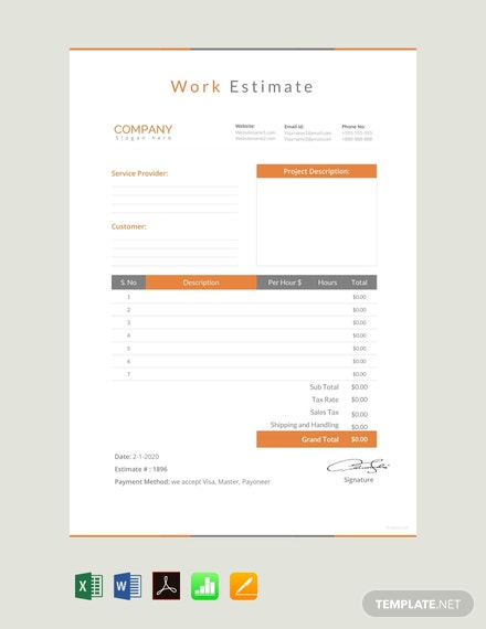 free work estimate template 440x570 1