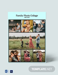 Free Family Photo Collage Template