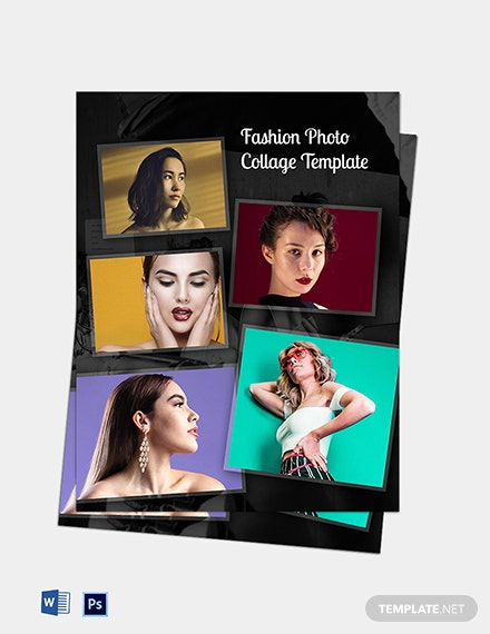 Free Fashion Photo Collage Template