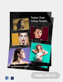 Fashion Photo Collage Template