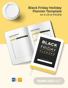 Black Friday Holiday Planner Template