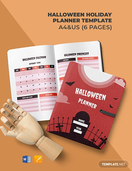 Halloween Holiday Planner Template