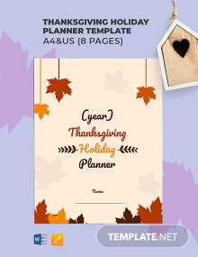 Thanksgiving Holiday Planner Template