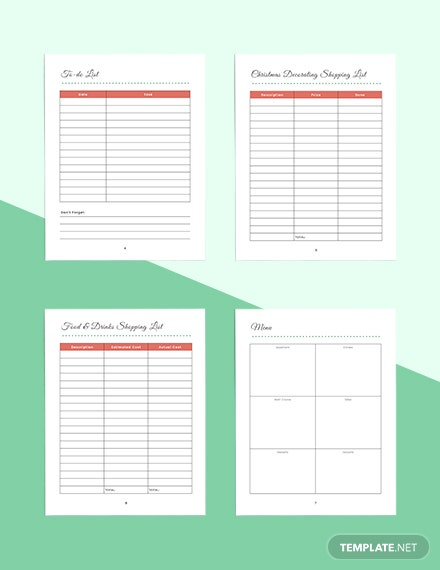 Christmas Holiday Planner Example