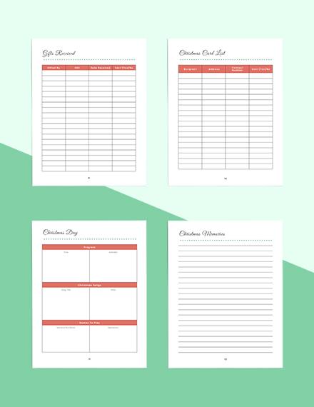 Christmas Holiday Planner Printable