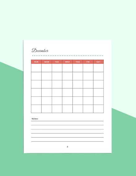 Christmas Holiday Planner Sample
