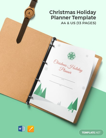 Christmas Holiday Planner Template