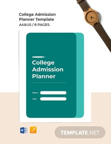 College Admissions Planner Template